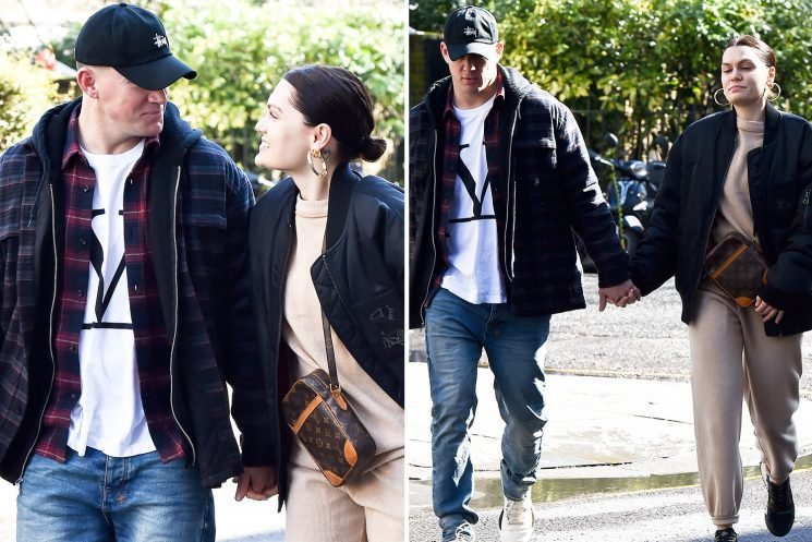 Jessie J and Channing Tatum hold hands as they are seen for first time together in London