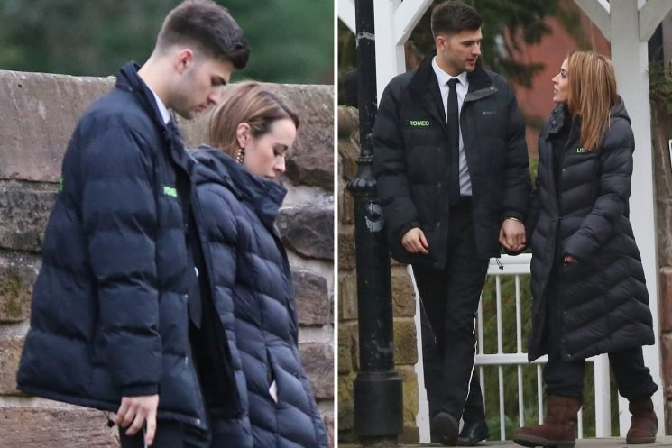 Hollyoaks' Steph Davis and boyfriend Owen Warner join cast at funeral of unknown character at church in Liverpool