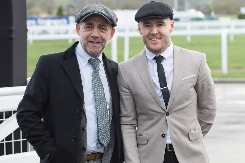 Cheltenham festival 2019: Corrie's Alan Halsall keeps hair transplant covered with flatcap as he enjoys day at races with Michael Le Vell
