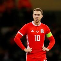 Why is Aaron Ramsey not playing for Wales against Slovakia?