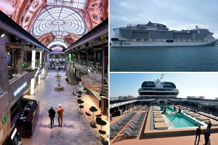Cruise ship MSC Bellissima featuring huge water park, two Cirque du Soleil shows and an AI assistant in EVERY cabin has arrived in UK