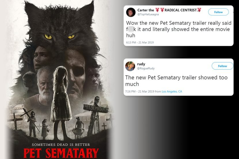 Horror fans furious as Pet Sematary trailer gives away the whole plot of terrifying movie