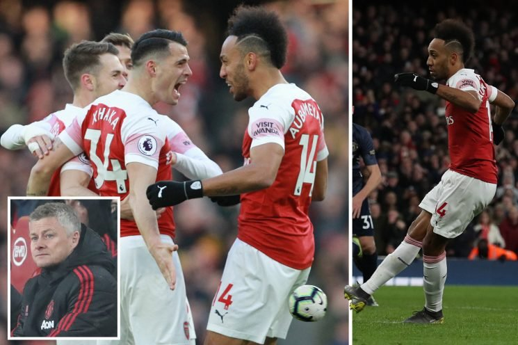 Solskjaer loses first league game as Arsenal beat Man Utd and get edge in top four chase