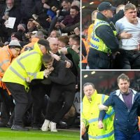 Police grapple with Newcastle fans as senseless pitch invasions continue