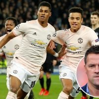 Michael Owen slaughtered by Man Utd fans after failing to celebrate Rashford penalty with Ferdinand, Hargreaves and Lineker