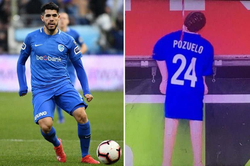 Sick Genk fans hang sex doll with ex-player's name on back from stands… before running it over with cardboard train