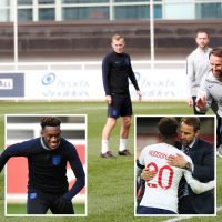 Southgate shows Hudson-Odoi who's boss in England training after handing youngster debut against Czech Republic
