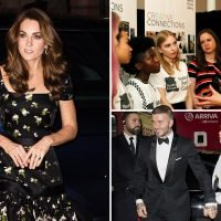 Kate Middleton joins the Beckhams and Kate Moss at starry National Portrait Gallery gala