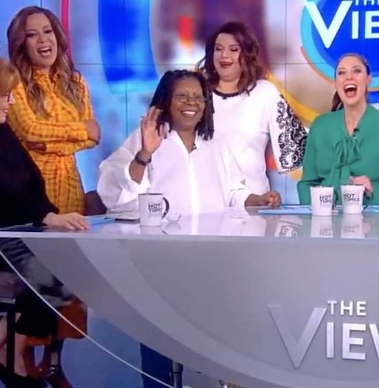 """Whoopi Goldberg Made A Surprise Visit To """"The View"""""""
