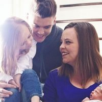 Tyler Baltierra Dad-Shamed for Kissing Newborn Daughter on the Mouth