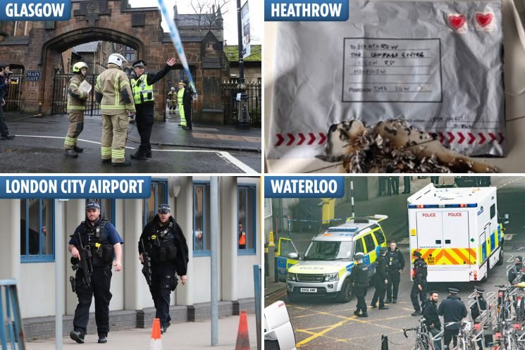 'IRA' claims responsibility for four bombs found in London and Scotland as cops warn there could be one more out there
