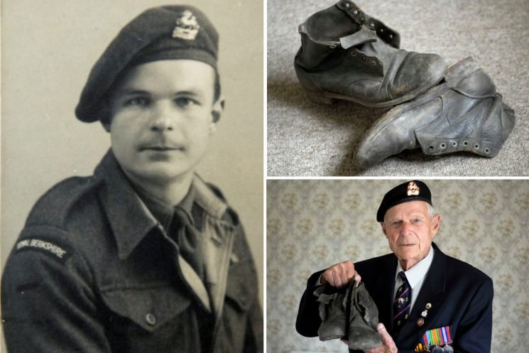 Dunkirk hero who kept leather boots he walked 1,300 miles in after fleeing Nazi PoW camp dies aged 99