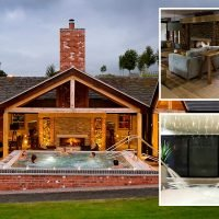 Relax at a country spa with a hot tub in the room and stunning views of Staffordshire