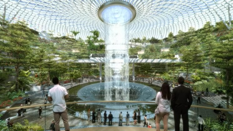 This $1.25 Billion Airport Features a Man-Made Forest and the World's Tallest Indoor Waterfall