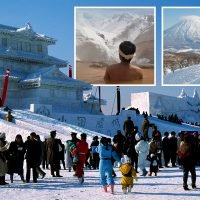 Hokkaido in Japan is the snowiest place on Earth and perfect for skiing, snowboarding…and a traditional Japanese nude bath