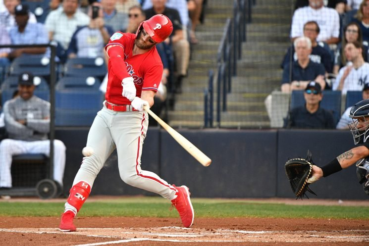 Bryce Harper happy with Phillies while repeating past Yankees love