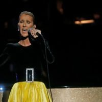 Celine Dion Wows In Black & Yellow Gown While Honoring Aretha Franklin During TV Tribute