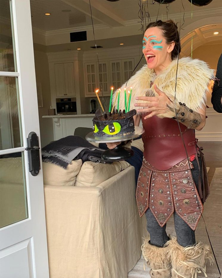 Jennifer Garner Embarrasses Her Son at His 7th Birthday Party By Dressing Up as Astrid from How to Train Your Dragon
