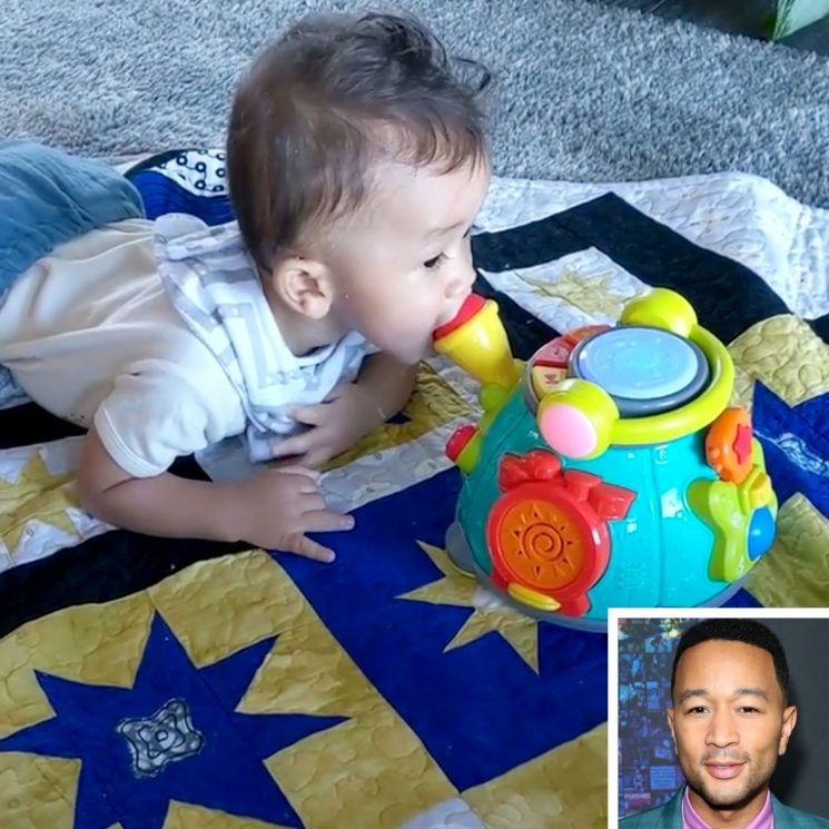 Like Father, Like Son! John Legend's 9-Month-Old Miles Adorably Sings Into a Toy Mic