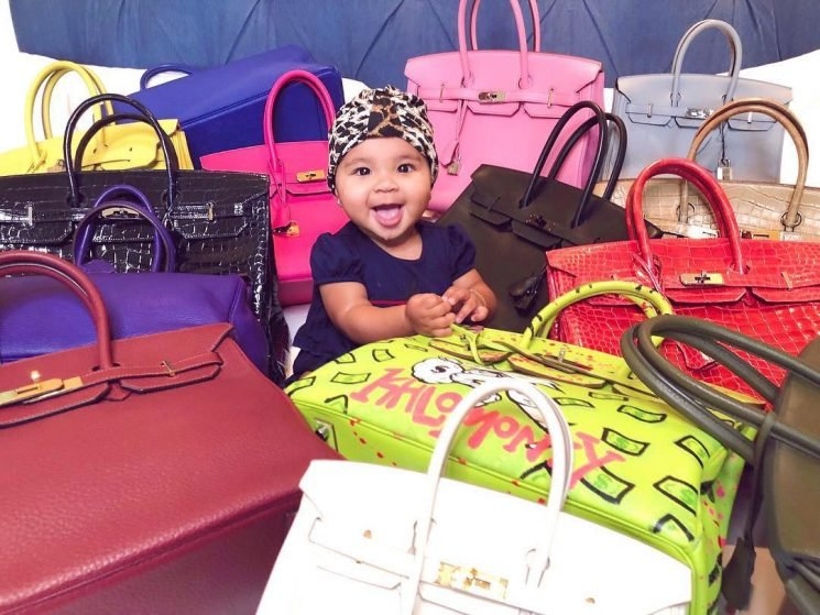 Khloe Kardashian Criticized After Daughter True Poses with Over $160,000 in Birkin Bags