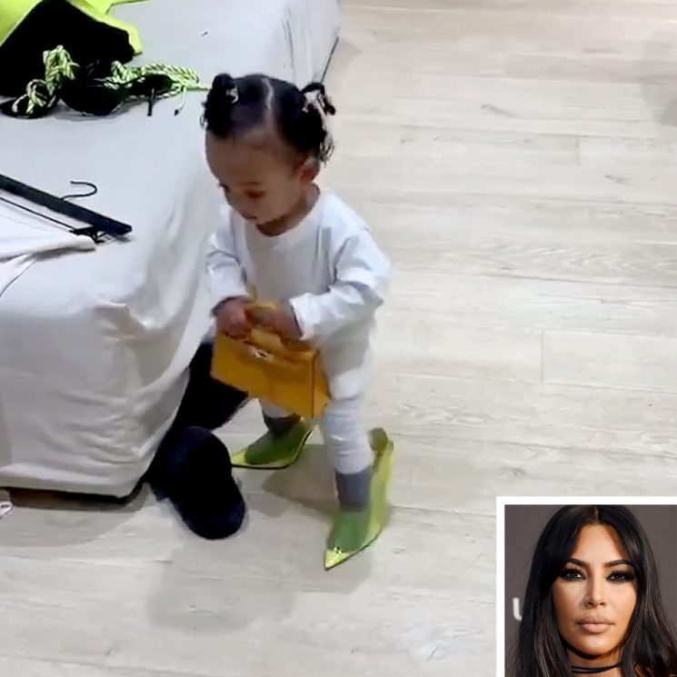 Kim Kardashian's 13-Month-Old Daughter Chicago Wears $592 Yeezy Heels and $17,500 Hermés Bag