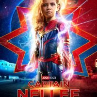 Dad Surprises His Daughter, 5, with a Captain Marvel Movie Poster – Featuring Her as the Heroine