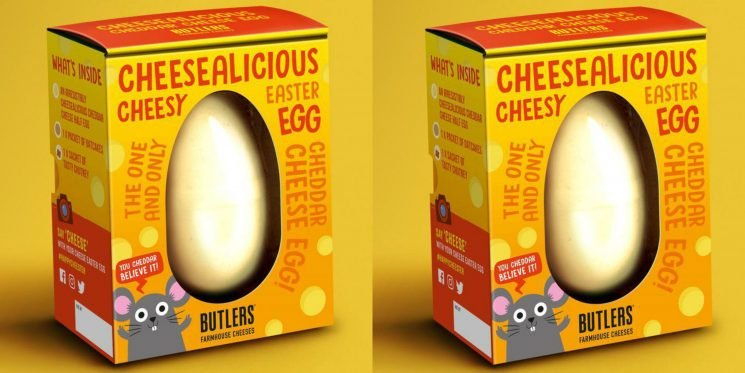 You Can Buy a Giant Easter Egg Made of Straight Cheddar Cheese for Your Holiday Brunch