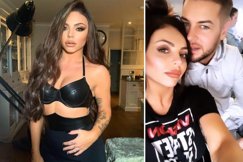 Little Mix's Jesy Nelson strips to leather bra in confident display after Chris Hughes admits she leaves him 'speechless'