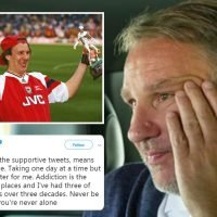 Paul Merson thanks fans after Arsenal legend revealed his gambling addiction left him 'like a crack addict'