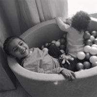 Kim Kardashian Calls Son Saint 'The King of Hide and Seek' in Sweet Playtime Photos