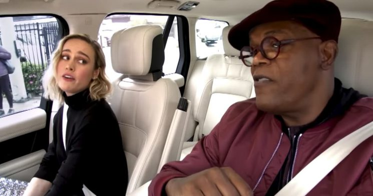 Brie Larson, Samuel L. Jackson Tackle Ariana Grande and a Lie Detector Test During 'Carpool Karaoke'
