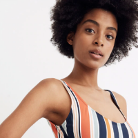 Madewell Just Launched a New Swim Collection Made Entirely of Recycled Plastic Bottles