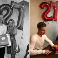 Leno's stunning girlfriend surprises him with Arsenal shirt cake to celebrate his birthday
