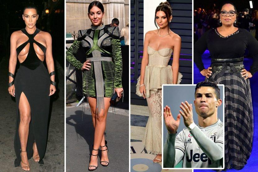 Ten of the most famous women followed by Cristiano Ronaldo on Instagram, including Kim Kardashian, Emily Ratajkowski, Oprah Winfrey…. And Georgina Rodriguez of course
