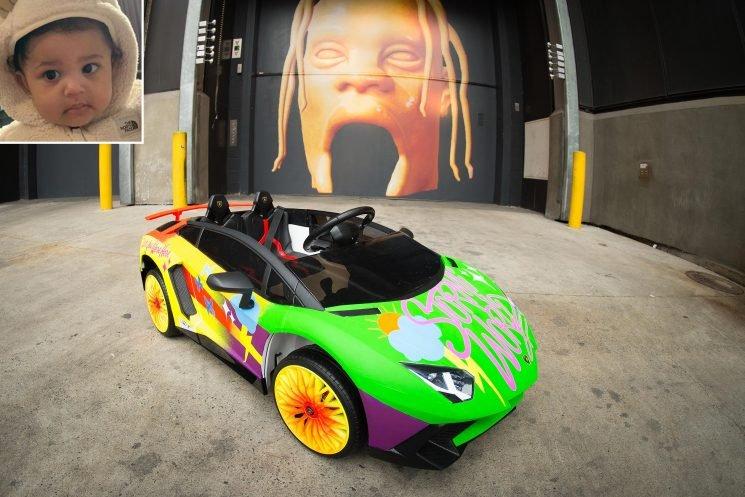 Kylie Jenner's Daughter Stormi Gets a Custom Lamborghini to Celebrate Dad Travis Scott's Tour