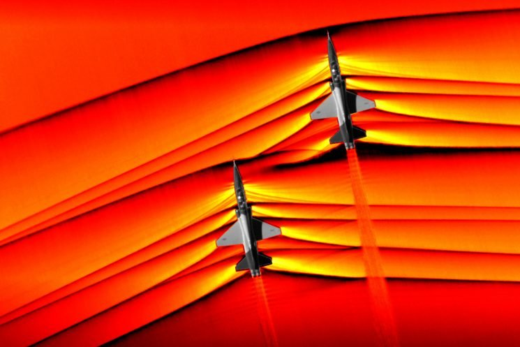 NASA captures first-ever photos of colliding supersonic shock waves