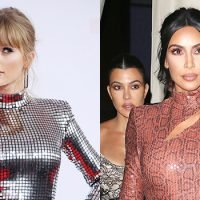 Taylor Swift Jokes That Kim Kardashian Feud & Dramatic 2016 Is Why She Started Drinking More