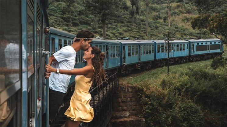 Instagram couple slammed for 'dangerous' photo shoot outside moving train