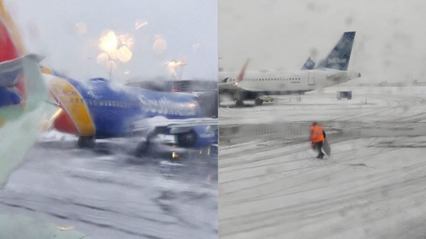 2 Southwest airplanes clip wings at Newark airport
