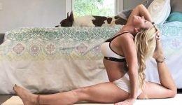 Bikini babe, 40, suffered a crippling stroke while doing YOGA