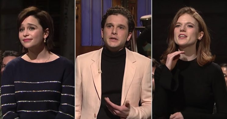 Even Kit Harington's Game of Thrones Costars Are Aching to Hear Season 8 Spoilers on SNL
