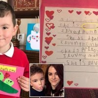 Mother stunned after son, five, called her a c*** in Mother's Day card