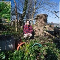 Son blasts council for turning his mother's  garden into 'wasteland'