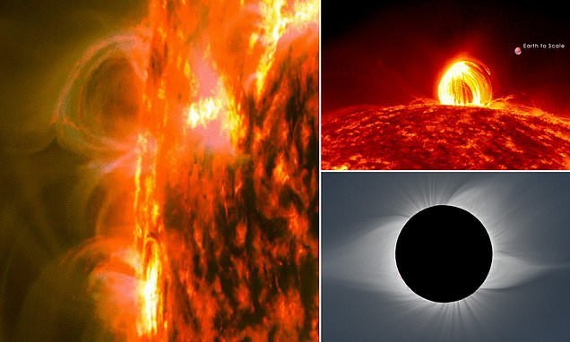 Sun has 17,500°F showers of cooling gases in tiny magnetic loops