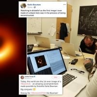 MIT graduate Katie Bouman helped capture the first image of black hole