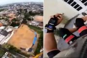 Skydiver slams into the wall of building in Brazil, somehow survives
