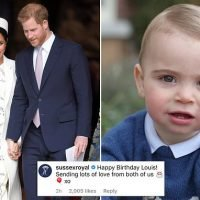 Meghan posts a sweet birthday message to her nephew Prince Louis