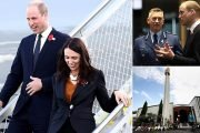 Prince William arrives in Christchurch with Jacinda Ardern