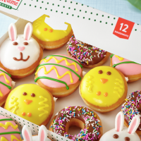 Krispy Kreme Just Dropped Easter Doughnuts Full Of Chocolate & Cake Batter