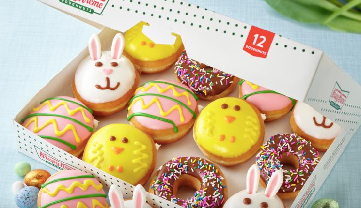 Krispy Kreme Just Dropped Easter Doughnuts Full Of Chocolate & Cake Batter
